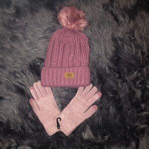 Brand New Ugg Hat & Glove Set